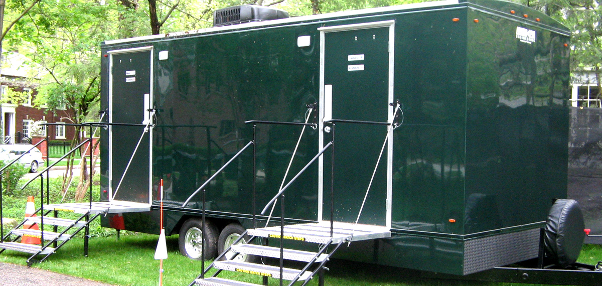 Mobile toilet trailer rentals