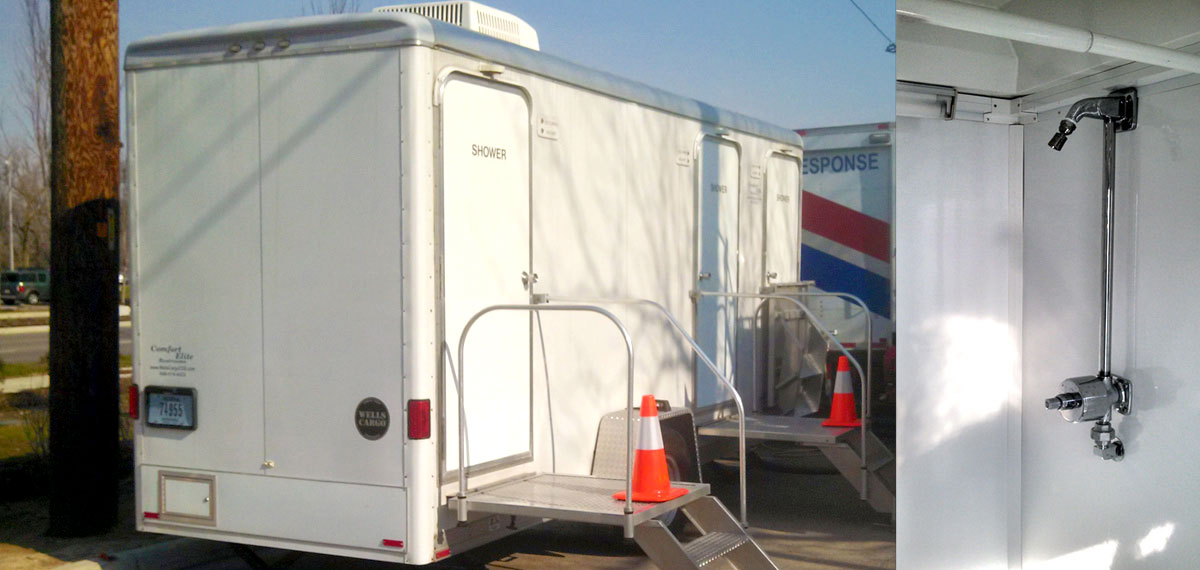 Indy portables shower trailer rentals