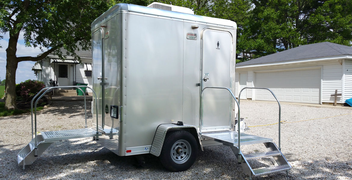 Indy Luxury Restroom Trailer rentals private homes and wedding parties