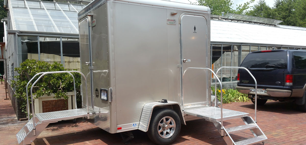 Indy Portable toilet trailer rentals